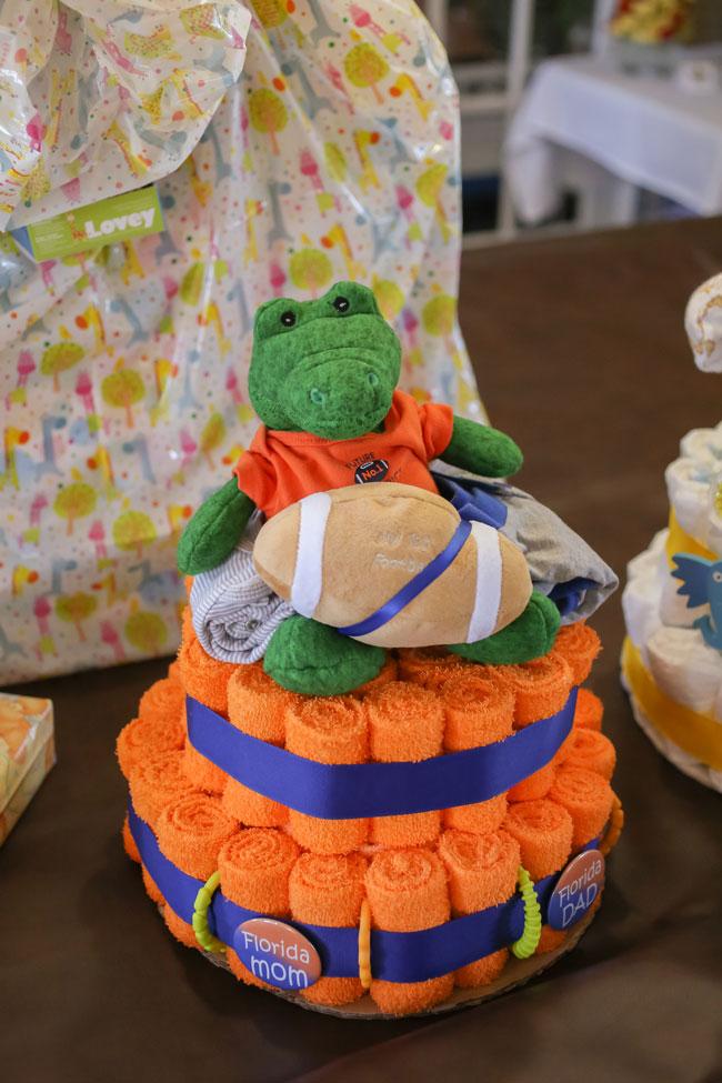 Turtle Towel Cake