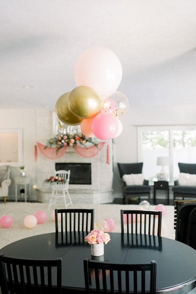 Flower and Balloon Centerpiece