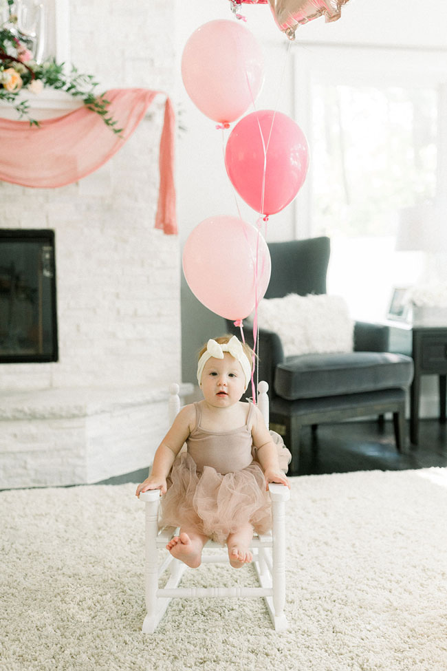 Floral Themed First Birthday Party Ideas