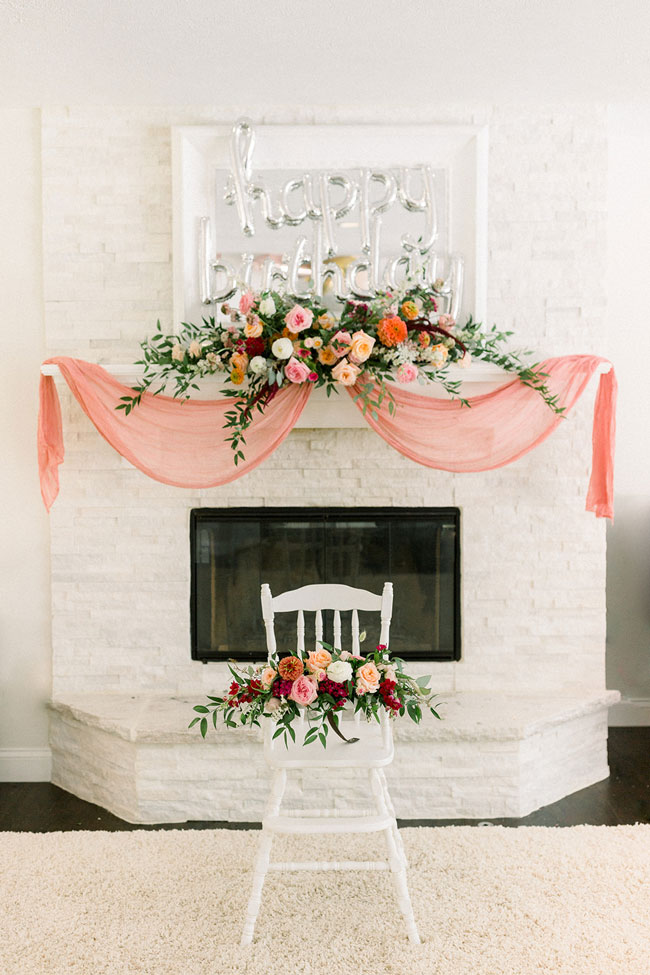 Floral Themed First Birthday Decor