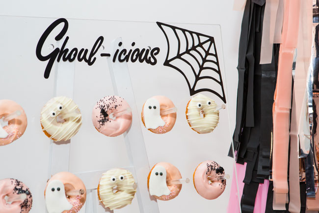 Halloween Party Donut Wall