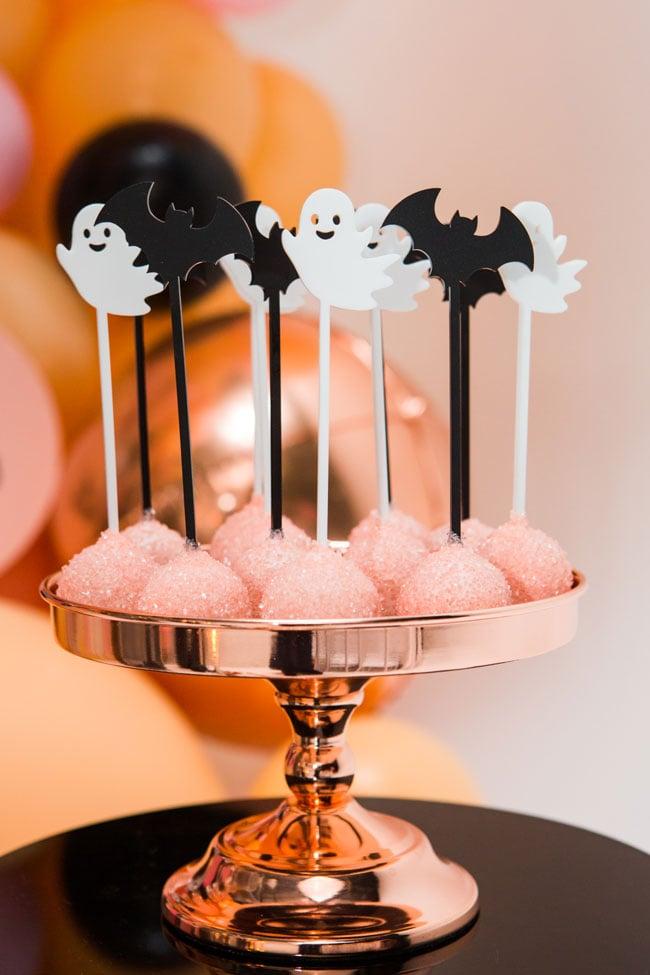 Halloween Bat Cake Pops