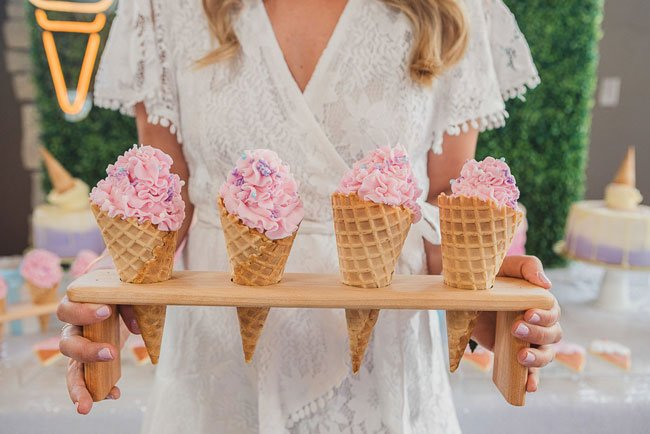 She Got Scooped Up Bridal Shower Ice Cream Cone Cupcakes