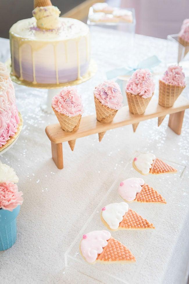 Ice Cream Bridal Shower Desserts