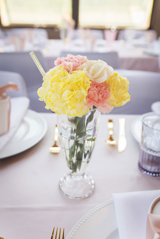 Flower Ice Cream Sundae Centerpiece Decoration