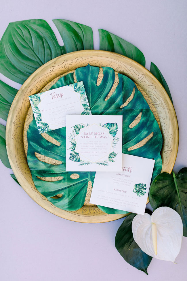 Wild One Tropical Baby Shower Invitation