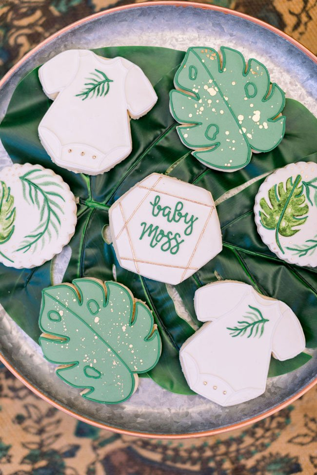 Wild One Tropical Baby Shower Cookies