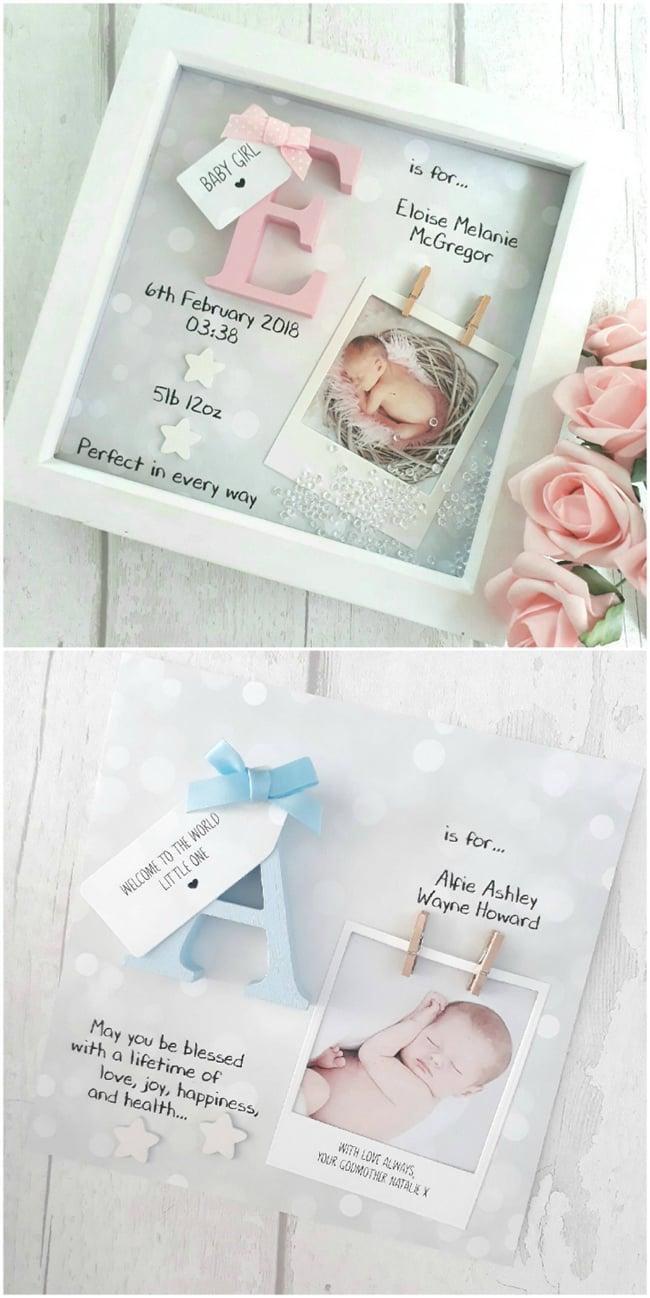 Baby Shadow Box Idea