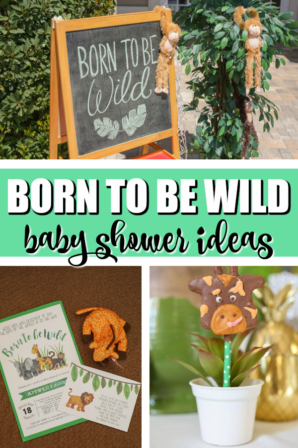 Born To Be Wild Baby Shower on Pretty My Party