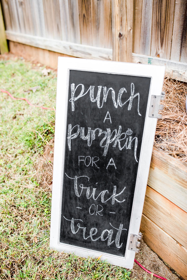 Punch A Pumpkin Sign
