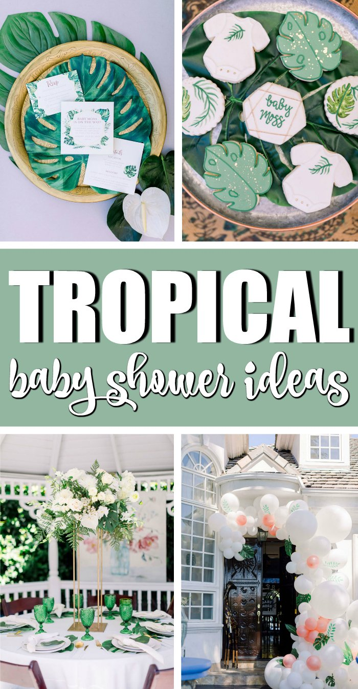 Wild One Tropical Baby Shower Ideas on Pretty My Party