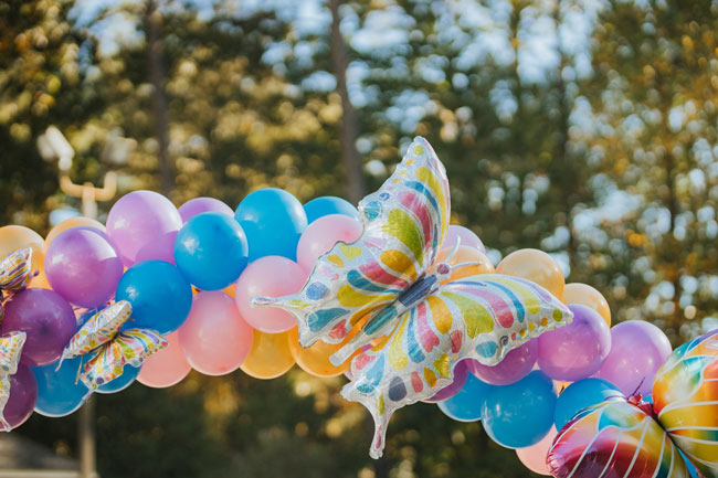 Butterfly Balloon Garland Arch