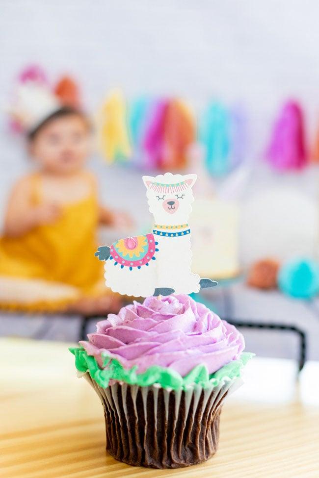 Llama Cupcake Topper