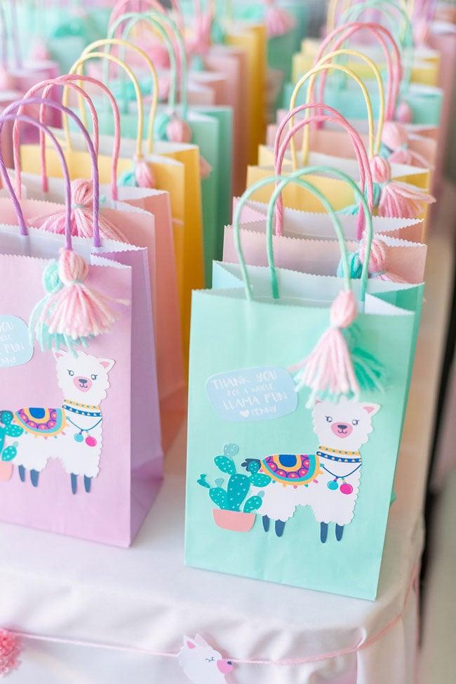 Pastel Llama Favor Bags