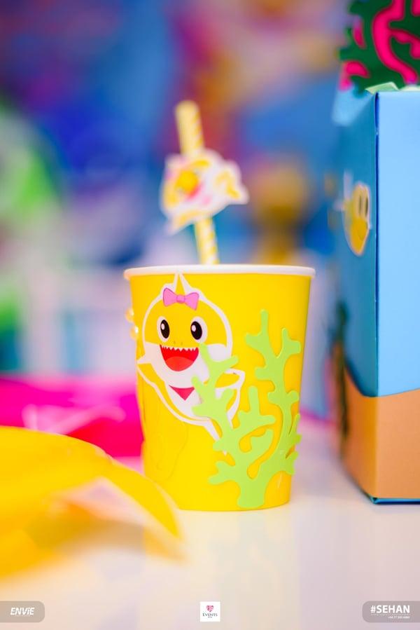 DIY Baby Shark Party Cups