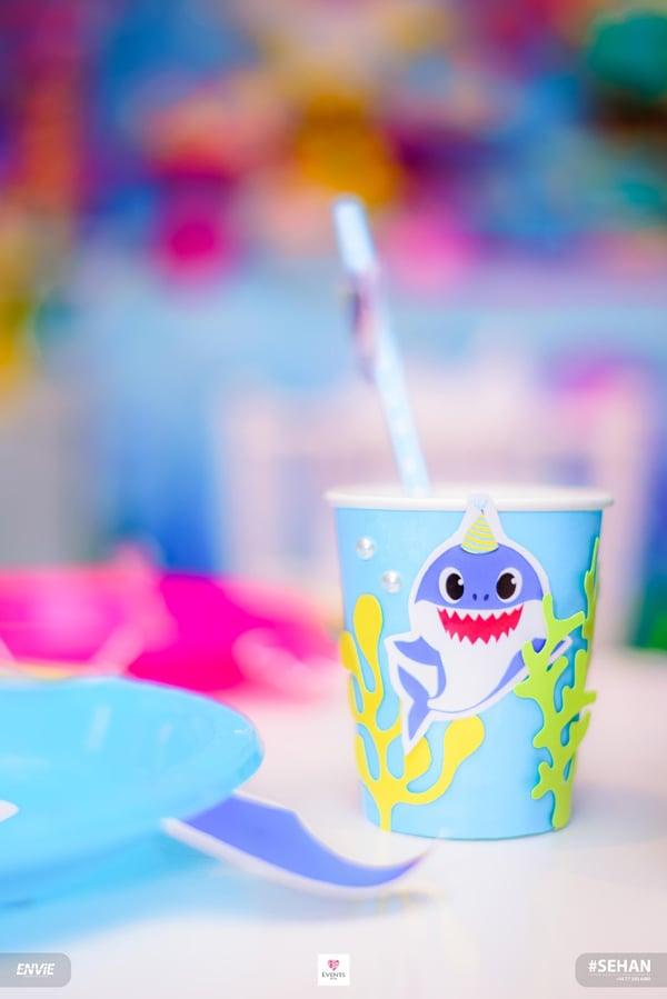 DIY Baby Shark Party Cup